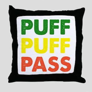 PUFF PUFF PASS Throw Pillow