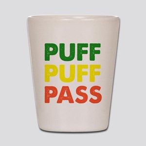 PUFF PUFF PASS Shot Glass