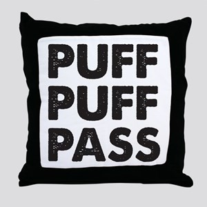 PUFF PUFF PASS Throw Pillow