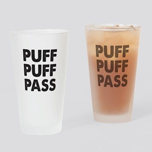 PUFF PUFF PASS Drinking Glass