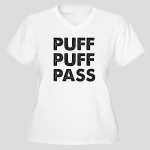 PUFF PUFF PASS Women's Plus Size V-Neck T-Shirt