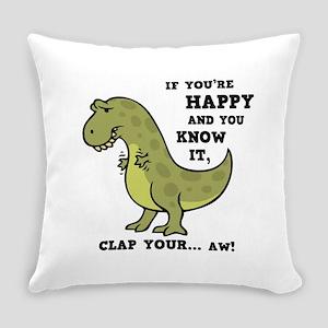 T-Rex-Clap-2-Ltt Everyday Pillow