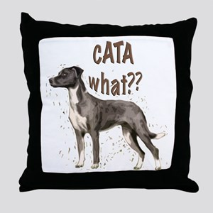 CATA WHAT Throw Pillow