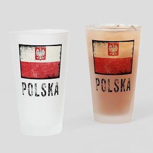 Grunge Polska Drinking Glass