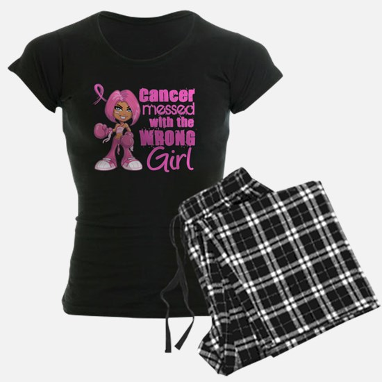 Messed With Wrong Girl Breast Cancer Pajamas