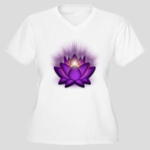 """Violet """"Crown"""" Chakra Lotus Women's Plus Size V-Ne"""