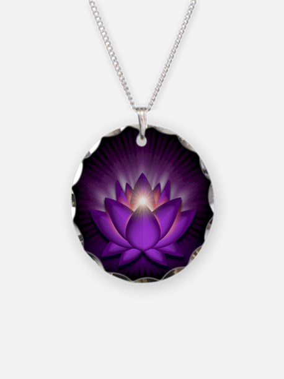 "Violet ""Crown"" Chakra Lotus Necklace"