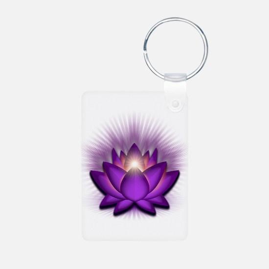 "Violet ""Crown"" Chakra Lotus Keychains"