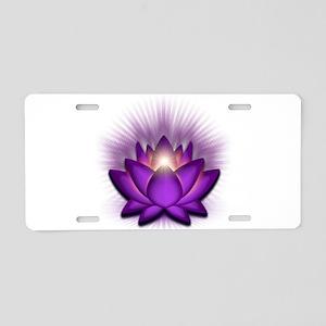 "Violet ""Crown"" Chakra Lotus Aluminum Lic"