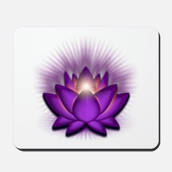 """Violet """"Crown"""" Chakra Lotus Mousepad"""
