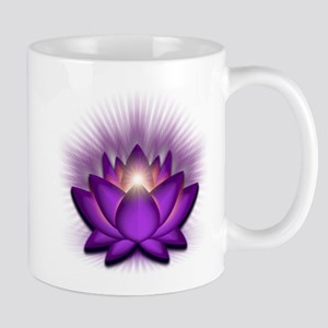 """Violet """"Crown"""" Chakra Lotus Mug"""