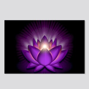 "Violet ""Crown"" Chakra Lotus Postcards (Package of"