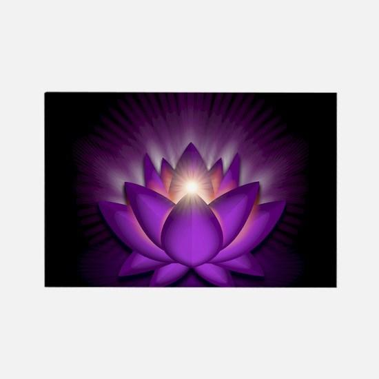 "Violet ""Crown"" Chakra Lotus Rectangle Magnet"