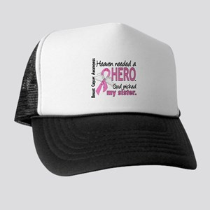 Heaven Needed a Hero Breast Cancer Trucker Hat