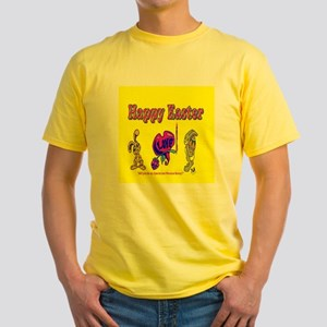 Easter Bunny Be Mine Yellow T-Shirt