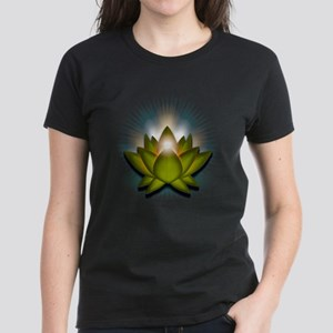"Green ""Heart"" Chakra Lotus Women's Dark T-Shirt"