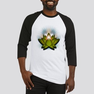 "Green ""Heart"" Chakra Lotus Baseball Jersey"