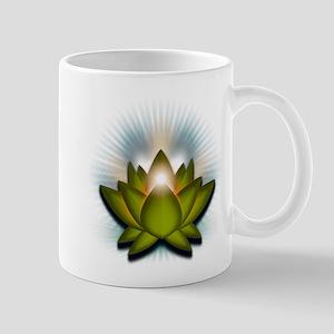 """Green """"Heart"""" Chakra Lotus Mug"""