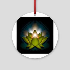 "Green ""Heart"" Chakra Lotus Ornament (Round)"