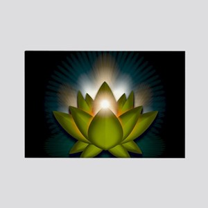 "Green ""Heart"" Chakra Lotus Rectangle Magnet"