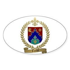 TARDIFF Family Crest Sticker (Oval 50 pk)