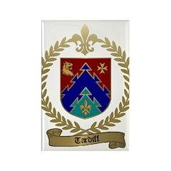 TARDIFF Family Crest Rectangle Magnet
