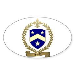 BUJOLD Family Crest Sticker (Oval 50 pk)