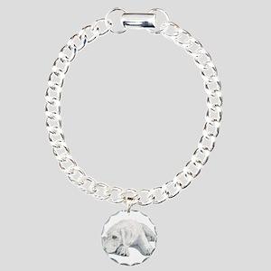 Sleepy Labradoodle Pup Charm Bracelet, One Charm