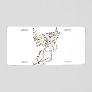 Mystic Reflections Pup Aluminum License Plate
