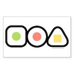 Austin Sushi Makizushi Rectangle Sticker