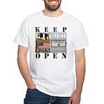 Keep GITMO Open White T-Shirt