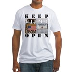 Keep GITMO Open Fitted Tee