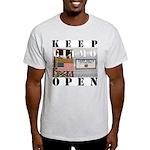 Keep GITMO Open Grey Tee
