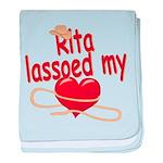 Rita Lassoed My Heart baby blanket