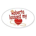 Roberta Lassoed My Heart Sticker (Oval)