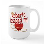 Roberta Lassoed My Heart Large Mug