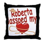 Roberta Lassoed My Heart Throw Pillow