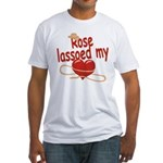 Rose Lassoed My Heart Fitted T-Shirt