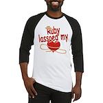 Ruby Lassoed My Heart Baseball Jersey