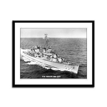 USS MILLER Framed Panel Print