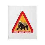 Honey Badger Crossing Sign Throw Blanket