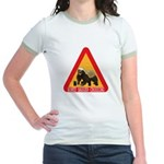 Honey Badger Crossing Sign Jr. Ringer T-Shirt