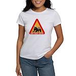 Honey Badger Crossing Sign Women's T-Shirt