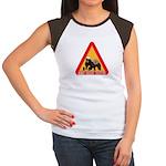 Honey Badger Crossing Sign Women's Cap Sleeve T-Sh