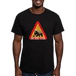 Honey Badger Crossing Sign Men's Fitted T-Shirt (d