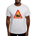 Honey Badger Crossing Sign Light T-Shirt