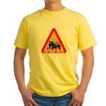 Honey Badger Crossing Sign Yellow T-Shirt