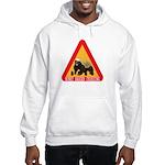 Honey Badger Crossing Sign Hooded Sweatshirt