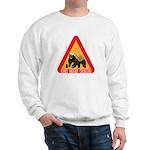 Honey Badger Crossing Sign Sweatshirt