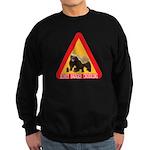Honey Badger Crossing Sign Sweatshirt (dark)
